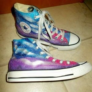 Converse Galaxy High Tops Size 7